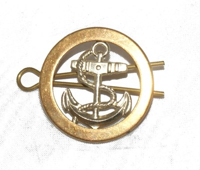 navy cap badge