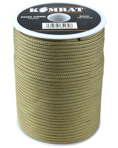 ParaCord on reel - 100m Coyote Tan