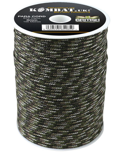 ParaCord on reel - 100m Black-Copy