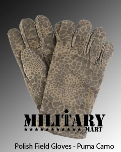 Polish Army Puma Camo Gloves NEW