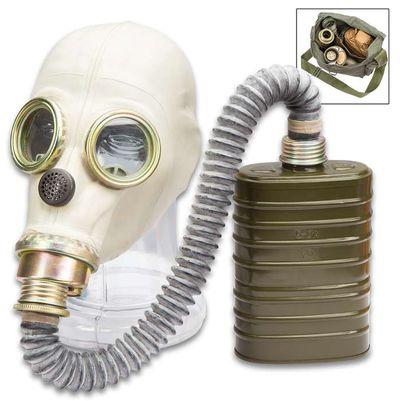 Polish army Mp3 Gas mask respirator and bag