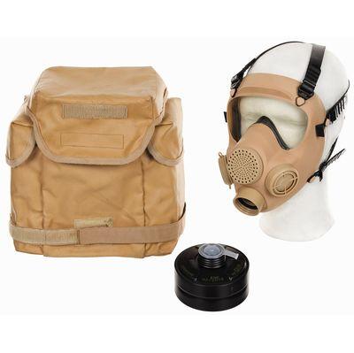 Polish army Mp5 Gas mask respirator and bag - desert