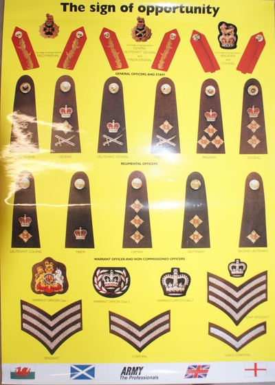 Poster Military Rank