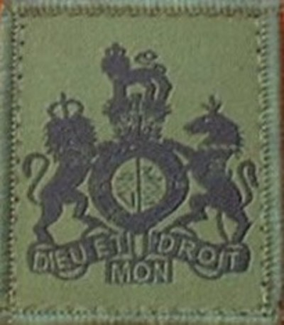 Regimental Sergeant Major WOI Helmet Patch