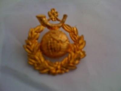 Marine Brass Metal Cap Badge