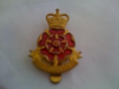 Queen's Lancashire Regiment Metal Cap Badge