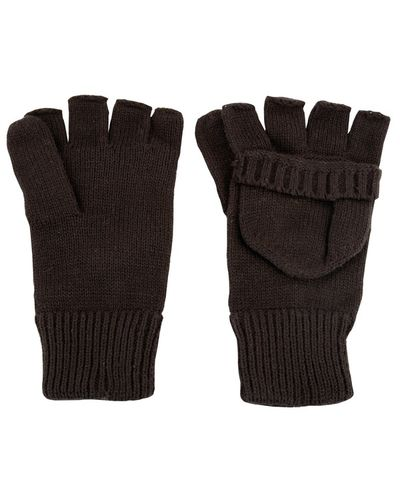 Wool Shooter Mitts - Black