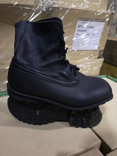 Swedish Army Marching Boots Black