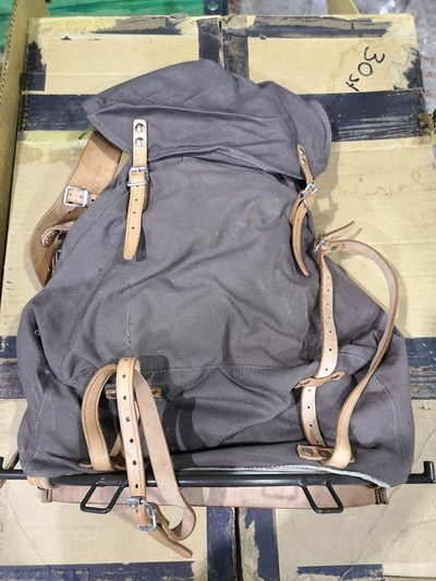 Vintage Swedish Army M39 40ltr canvas Rucksack - Unissued