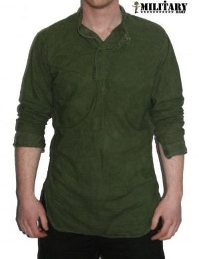 Used Swedish M49 M55 Grandad Shirt