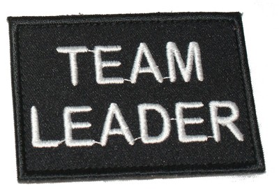 Team Leader Black patch / badge (security)