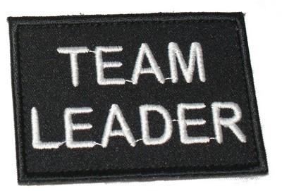 Team Leader Black patch / badge (security)