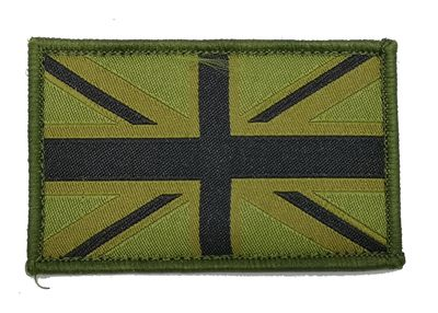 Union Jack Subdued Patch (Green/Black)