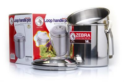 Zebra Head Loop Handle Cooking Pot 14cm Billie