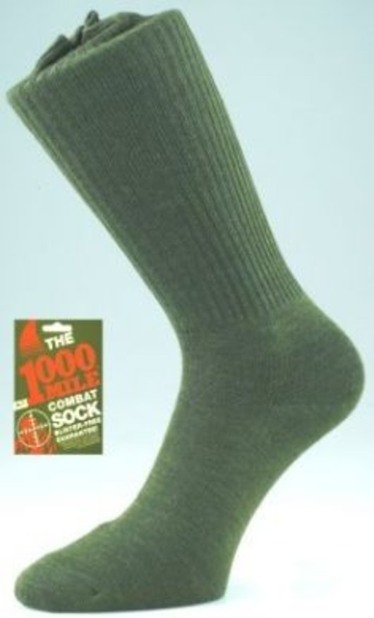 1000 Mile Traditional Combat sock - Green