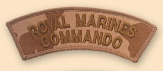 Royal Marines Commado Desert Badge