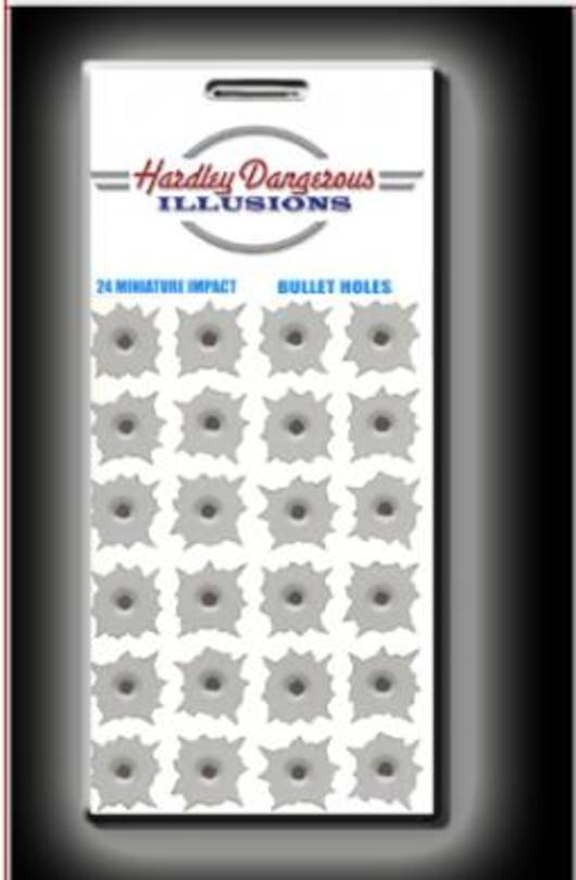 Hardley Dangerous .22 Caliber Bullet Holes Sticker