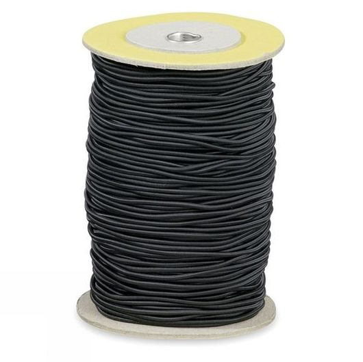 2.5mm Bungee Shock Cord Black Per Metre