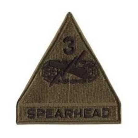 3rd Armoured Division Subdued Badge