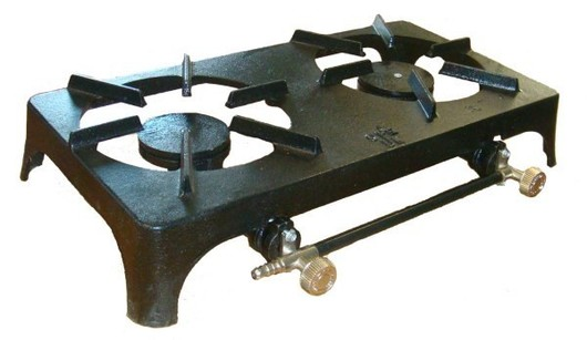 Cast Iron gas cooking Unit - Double Burner