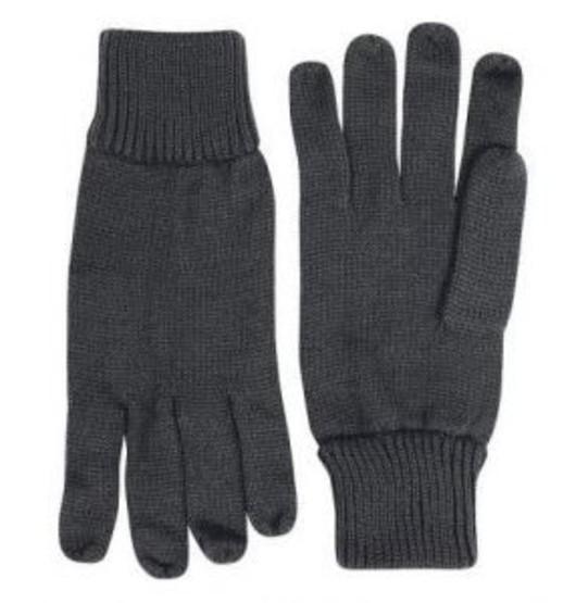 Acrylic Wool Gloves - Black