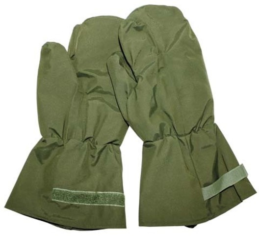 Olive Green Goretex Trigger Mitts