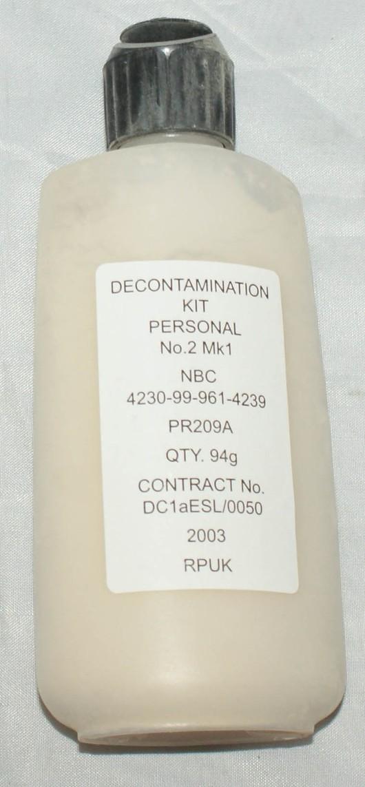 Decontamination kit personal no2 MK1