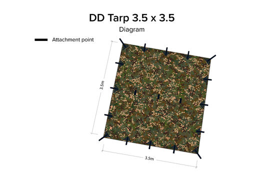 DD Hammocks 3.5 x 3.5 Tarp - MC