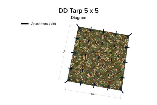 DD Hammocks 5 x 5 tarp MC