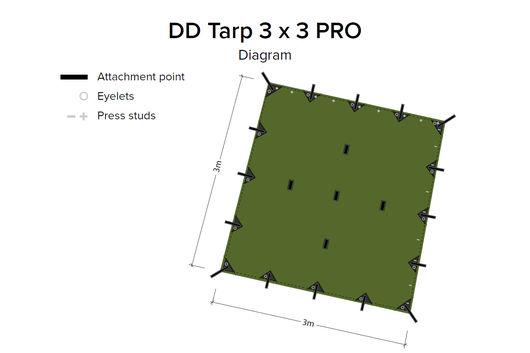 DD Hammocks 3x3 Tarp Pro