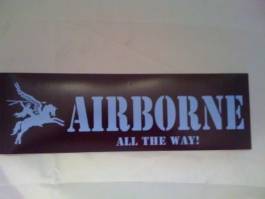 Airborne All The Way Decal Sticker