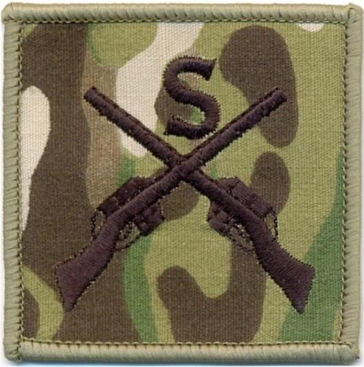 Sniper Qualification Patch Colour Subdued Multicam Â