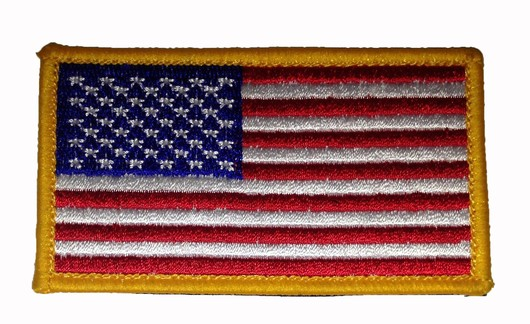 Stars  Stripes Cloth Badge