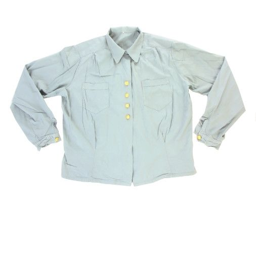 Swedish Army Female Vintage Blue GS Blouse