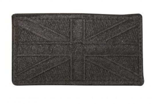 Viper Cloth Subdued Union Jack Black Patches