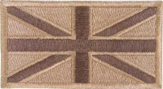 Viper Cloth Subdued Union Jack Desert Patches