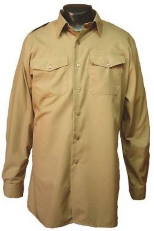 British issue dress shirt  - Fawn short sleeve