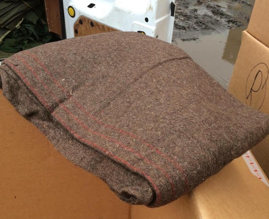 Greek  British Brown Wool Blankets