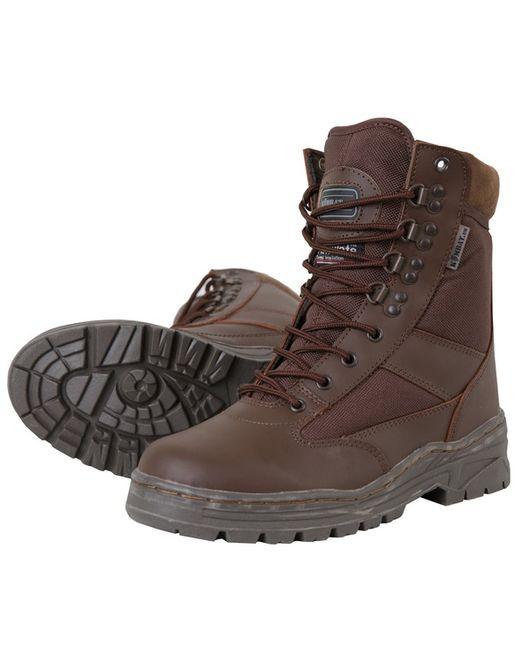 Cordura Half Leather Patrol Boots - Brown