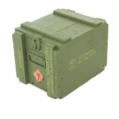 danish wooden ammo box