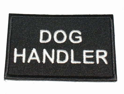 Dog Handler Black patch  badge security