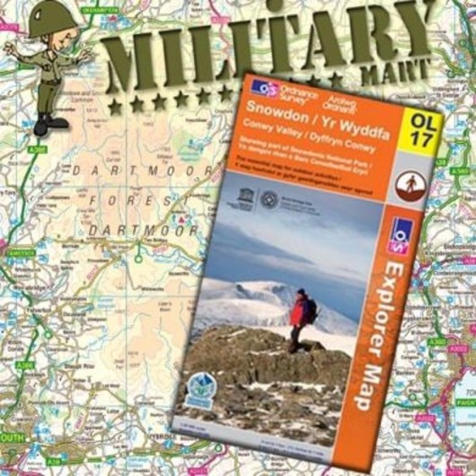 The Peak District - The dark peak area  - OL1 Ordnance survey Map