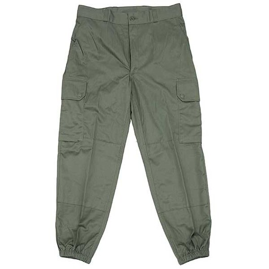 French f2 olive green trousers