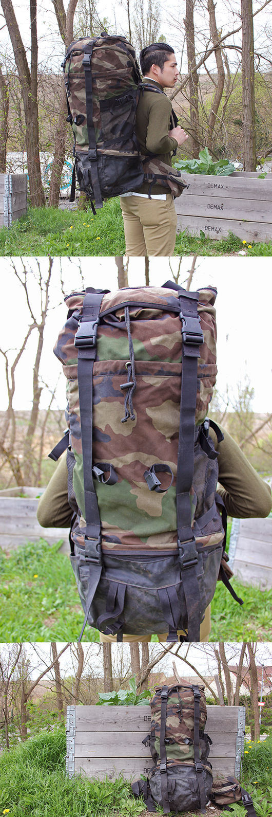 French Army 90L Camo CCE Rucksack