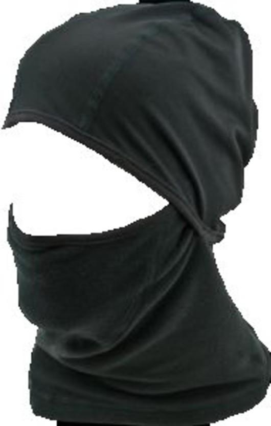 Black Military Thermal Fleece Headover With Helmet Liner