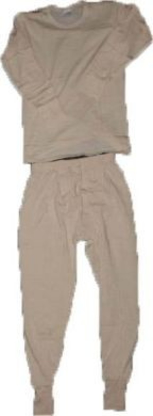 Italian Thermal long johns and vest Set