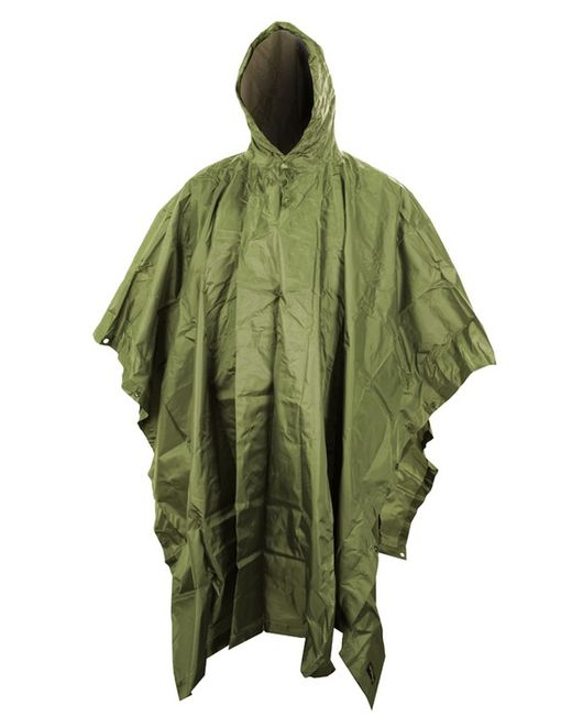 Olive Green Lightweight Poncho