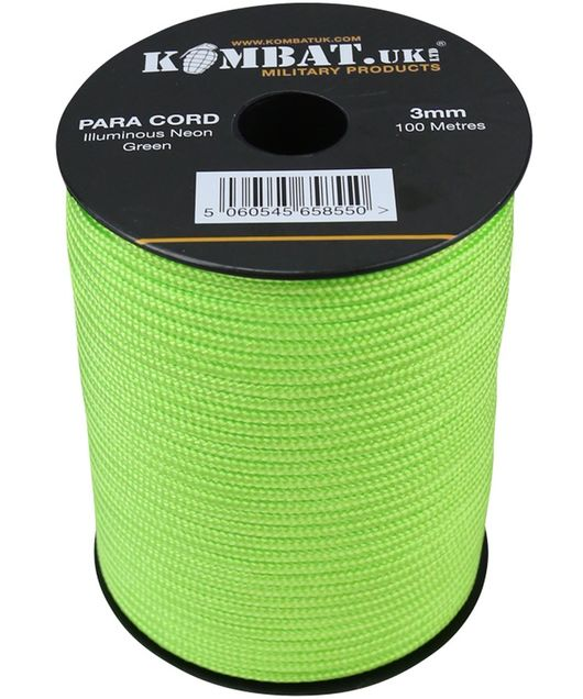 ParaCord on reel - 100m Neon YellowGreen