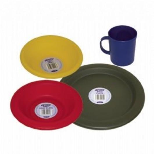 Olive Green Plastic Camping Mug 345ml