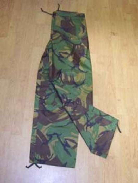 PVC DPM Camo Trousers Pants